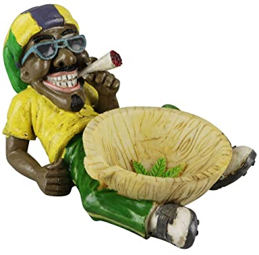 Fess Products Unique Jamaican Chilling Man Holding Cigarette Ashtray