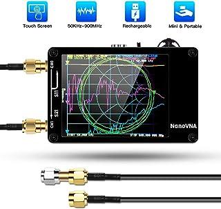 Elikliv Analizador de Red Vectorial NanoVNA 50KHz-900MHz, Analizador de Antena Portátil de Onda Corta MF HF VHF UHF con Pantalla Táctil