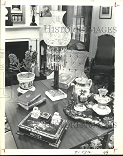 Vintage Photos 1981 Press Photo Table Setting in Bedroom at Varner-Hogg State Park in Texas