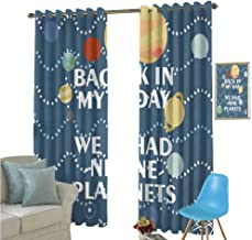 YSING Kitchen Curtains,Text Graphics Geometry Letter,Room Darkening Wide Curtains,W72 x L108 Inch