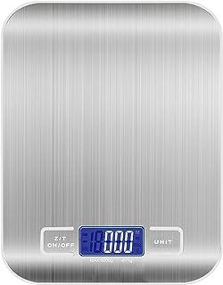 wdede Balance de Cuisine Électronique, 5 kg/11Lb, Balance Digitale à Haute Précision avec écran LCD et Tare Fonctionnalit...