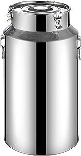 Conteneur à Lait en Acier Inoxydable Pichet de Stockage à l'air avec couvercles Transports Cans Barre d'huile Top Top Top ...