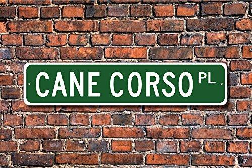 Metallschild Pfosten Cane Corso Schild Hundeliebhaber Geschenk Hundebesitzer Geschenk Schild Hundebesitzer Schild Wand Heimdekoration Straßenschild