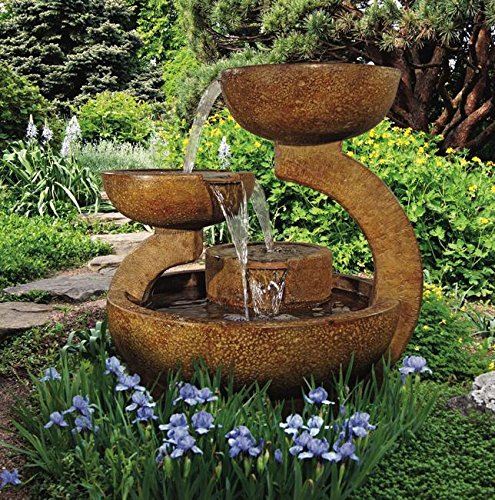 Henri Studio 4033F2RL Zen 3-Bowl Fountain, One Size, Relic Lava