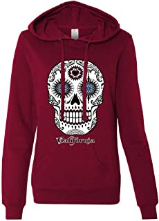 California Republic Sugar Skull Ladies Lt./Wt. Hoodie