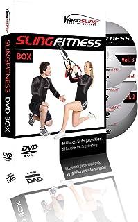 Variosling® Paquete/Set/Kit de DVDs de Ejercicios para Entrenamientos en Suspensión/Sling-Trainer – vídeo | Slingfitness Vol. 1-4 – más Que 60 Ejercicios en Esa Gran colección