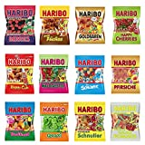 5LB German Haribo Gummy Candy Bulk Assortment - Variety of 7oz Dye Free Bags of Candy Gummies Perfect International Alternative