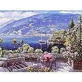 Puerto paisaje pintura al óleo pintura por número Street View Kits dibujo sobre lienzo para niños adultos decoración del hogar regalo A12 45x60cm