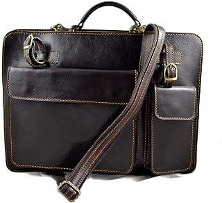 Cartella pelle borsa ufficio uomo donna valigetta 24 ore borsa pelle messenger a mano e tracolla borsa spalla testa moro p...