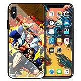 Coque en verre trempé pour iPhone 7 8 6 6S Plus 11 11 Pro 11 Pro Max XR XS MAX One Piece Ace Fire...