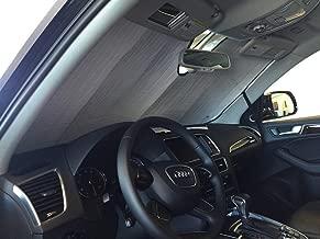 The Original Windshield Sun Shade, Custom-Fit for Audi Q5 SUV 2009-2017, Silver Series