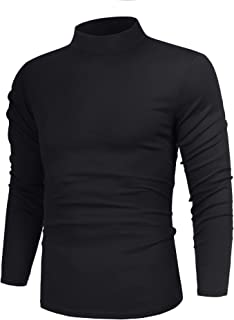 poriff Men's Casual Slim Fit Basic Tops Knitted Thermal Turtleneck Pullover Sweater