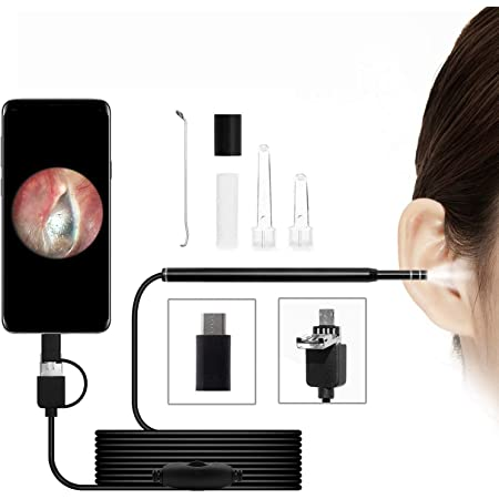 5.5mm Ultra-Thin WiFi HD Ear Inspection Camera iPad /& Android Smart Phones YYS SPY Digital Otoscope Ear Scope Earwax Cleaning Tool with 6 Adjustable LED Lights for iPhone