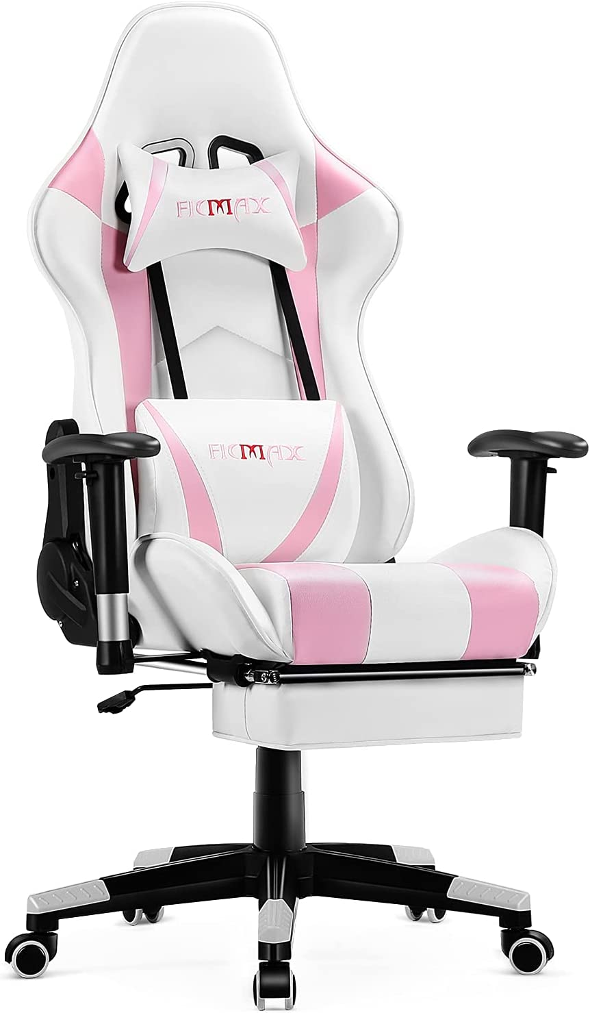 Ficmax Ranking TOP19 Pink Gaming Chair Translated with Racing Footrest Style Gamer