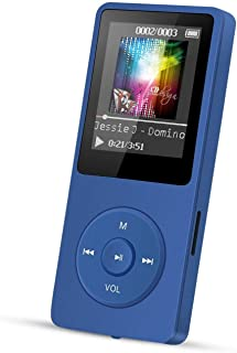 AGPTEK A02 8GB MP3 Player, Voice Recorder and FM Radio Blue
