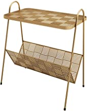 Coffee Table Nordic Modern Wrought Iron Coffee Table, Simple Bedroom Bedside Table Corner Table Living Room Sofa Coffee Ta...