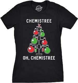 Womens Chemistree Tshirt Funny Chemistry Science Christmas Tee for Ladies