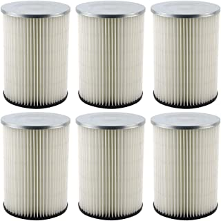 6 Pack Felji Replacement Cartridge Filters for Shop Vac 90328 9032800 903-28 903-28-00 fits Craftsman and Ridgid Brand Vacuums