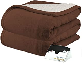 Pure WarmthMicroPlush Sherpa Electric Heated Blanket Twin Chocolate