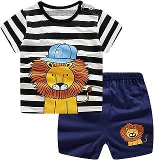 K-youth Conjunto Bebé Niños, Camiseta Estampado con Manga Corta Niño Ropa Recién Nacido Niña Tops y Pantalones Cortos Vera...