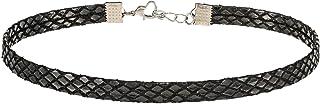 Alwan Snake Pattern Leather Choker Necklace for Women - EE3733NA