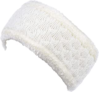 BYOS Womens Chic Cold Weather Enhanced Warm Fleece Lined Crochet Knit Stretchy Fit