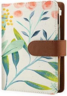 2020 Refillable Planners With 6 Ring Binder, Personal Organizer With 2020-2022 Calendar, 6 Ring Planner Organizer Notebook, Refillable Binder Planners for Men & Women Watercolor Leaves - Personal Size