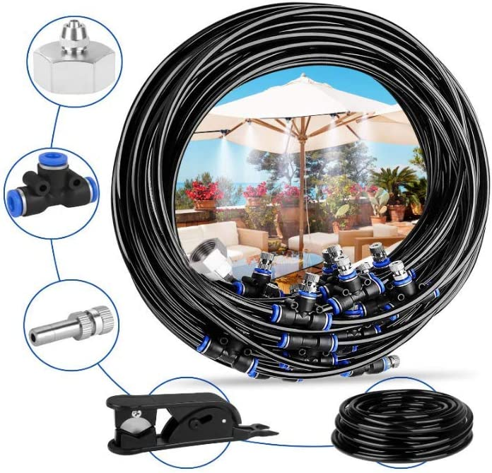 Lyfree Outdoor Excellent Misting Cooling System 32.8 Feet Mi Brand new 10 Metal with