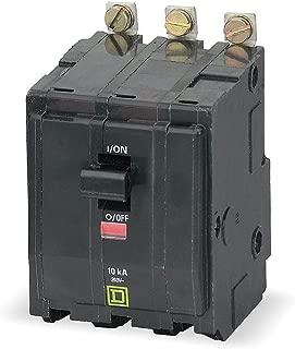Square D Bolt On Circuit Breaker, 50 Amps, Number of Poles: 3, 240VAC AC Voltage Rating - QOB350