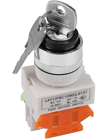 INTERRUTTORE A CHIAVE 16mm deviatore spdt con 2 chiavi commutatore antifurto