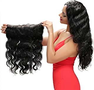Brazilian Body Wave 13x4 Lace Frontal Pre Plucked Natural Hairline Lace Frontal Closure 100% Human Hair Ear To Ear Lace Closure With Baby Hair Remy Hair Bleached Knots Lace Frontal(8 Inch)