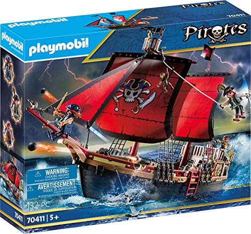 Playmobil - Pirates Playset Barco Pirata Calavera, Multicolor (70411)
