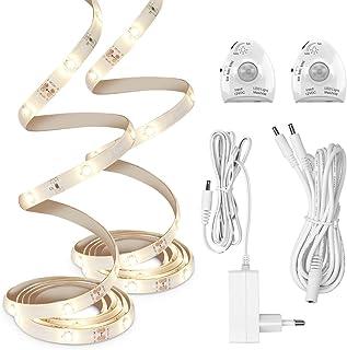kwmobile Ruban lumineux LED capteur - Bande lumineuse détecteur de mouvement éclairage lit - Bandeau lumière réglable avec...