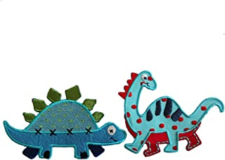 Diplodocus 10X8Cm Stegosaurus 11X7Cm Iron-On Designer Patch Used For Clothing Fabric Gifts Crafts Jeans To Iron On Backpack Scarf Cushion Door Bunting Flag Trousers Bag Backpack Ceiling Neckerchief S