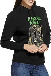 Municipal Waste Women's Long Sleeve Classic Hooded Sweatshirt with Drawstring Black