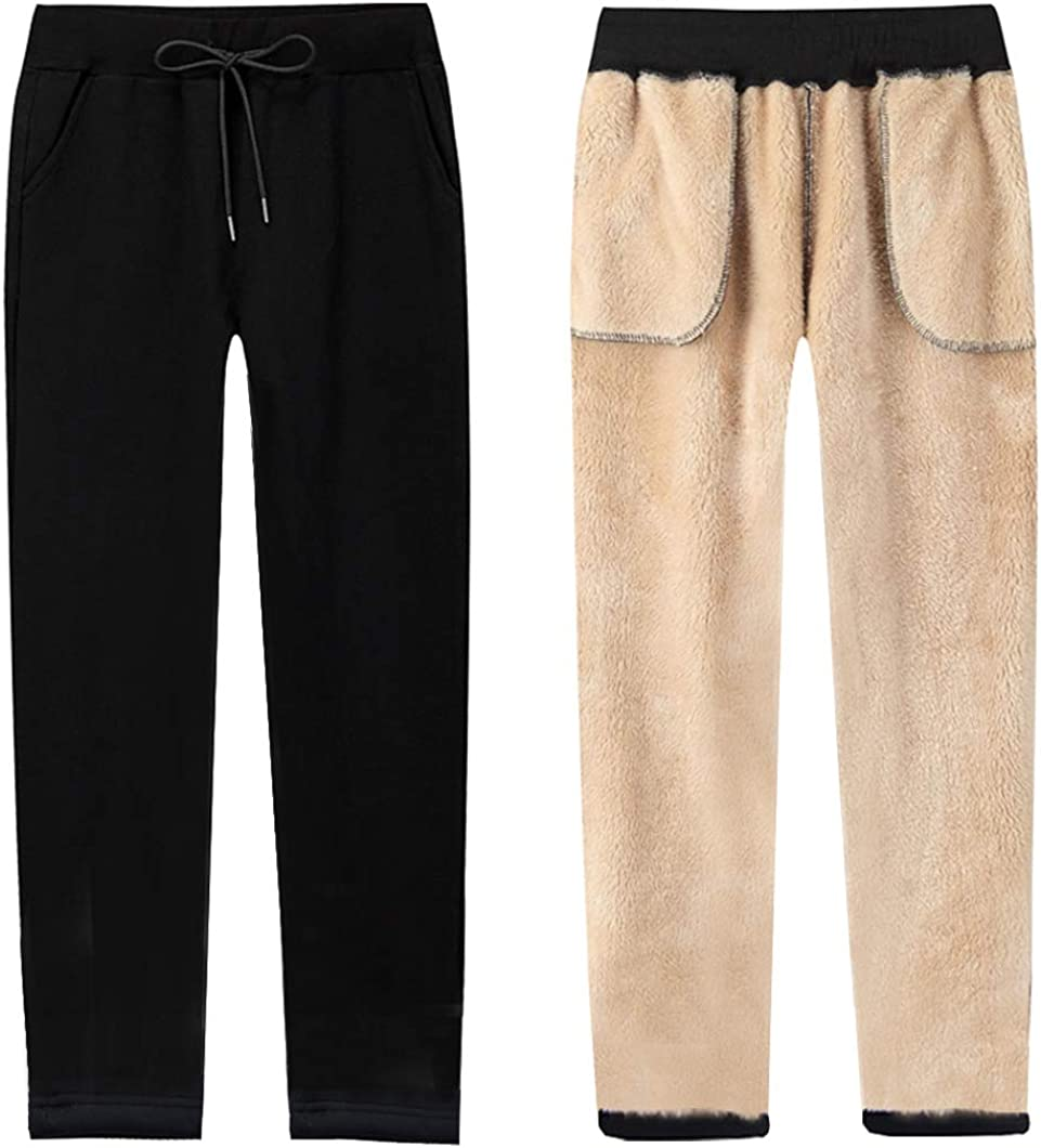 Duyang Women's Warm Sherpa 2021 new Lined Athletic Sweatpants latest Jogger Hare