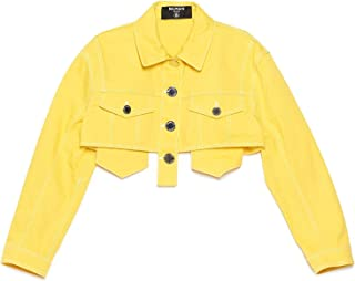 Luxury Fashion | Balmain Women TF08122D0221KC Yellow Cotton Outerwear Jacket | Spring-summer 20