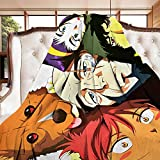 Eisvalaya Cowboy Bebop Flannel Throw Blanket Lightweight All-Season Fluffy Warm Cozy Plush Microfiber for Bed Couch Sofa Office Camping Large 80in60in
