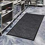 Anti fatigue floor mat,The holes and perforated design of this all purpose entrance doormat traps dirt, preventing it from spreading. Simply hose the mat with water to clean up any dirt or grease Rubber Floor Mat,We use the good quality material ,Mad...