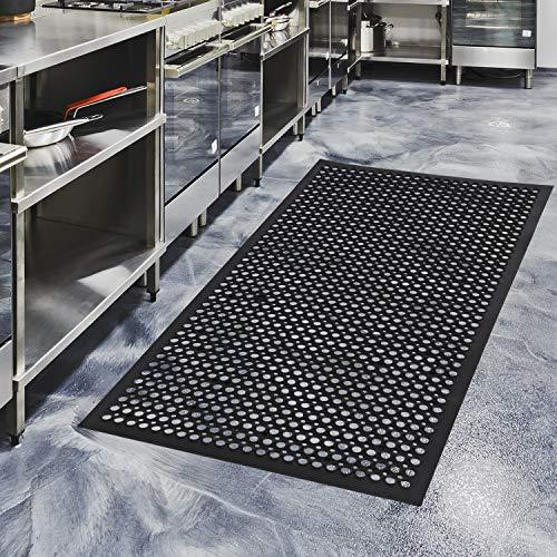 "Rubber Door Mats Anti-Fatigue Floor Mat for Kitchen New Bar Floor Mats Commercial Heavy Duty Bath Mat Black 36"" x 60"""