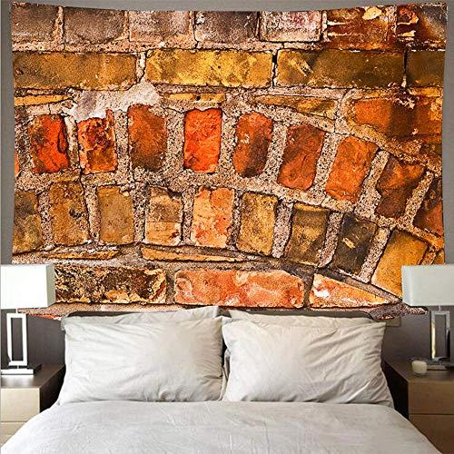 Tapiz Guijarro ladrillo textura patrón de pared impresión tapiz toalla de playa poliéster manta fina yoga boho mandala decoracion pared 150x100cm/59*39inches