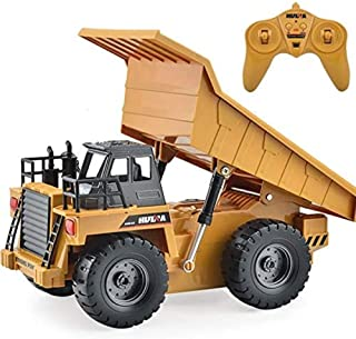 Construction Vehicle Truck Toys - 6 Channel Full Function RC Truck Excavator Toy - Remote Control Truck Dump Truck - for B...