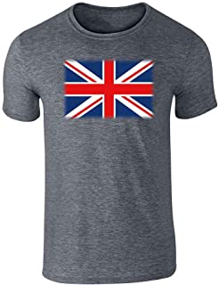 Union Jack Flag Great Britain United Kingdom England Scotland Wales Graphic Tee T-Shirt for Men
