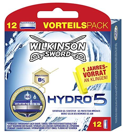 Wilkinson Sword Hydro 5 jaarvoorraadverpakking heren scheermesjes, 12 stuks