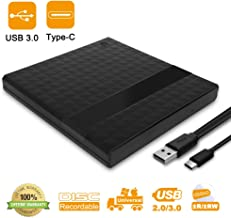 Lecteur CD/DVD Externe – FAGORY Portables Type C USB 3.0 Graveur CD DVD Externe CD..