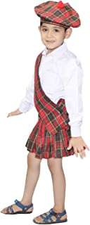 Traditional Scottish Boy Costume for Halloween Carnival Cosplay/Tartan Fancy Dress -Multicolor,for Boys