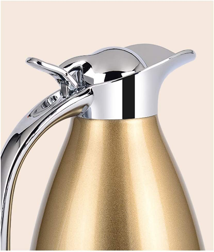 HLJ Stove Top Kettle, Insulation Pot woningisolatie Ketel met grote capaciteit 304 Stainless Steel Hotel Kettle 2L (Color : Red) Gold
