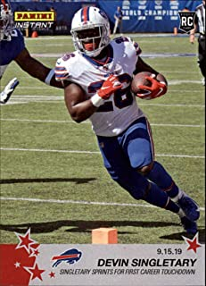 2019 Panini Instant NFL #30 Devin Singletary, Buffalo Bills – Singletary Sprints for First Career Touchdown (9.15.19) Print Run 66 RC Rookie Official Football Trading Card