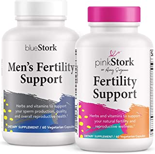 Pink Stork & Blue Stork Fertility Supplement Bundle: Fertility Supplements for Women + Men, Support Hormones, Conception, Reproductive Wellness, Fertility Prenatal Vitamins