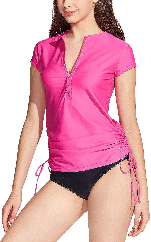 security TSLA Women's Finally popular brand Half-Zip Front Rash Side Adjustable UPF 50+ Guard